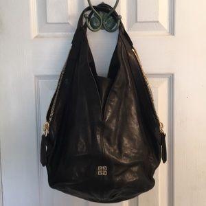 Black Leather Givenchy Bag w Zip Embellishments